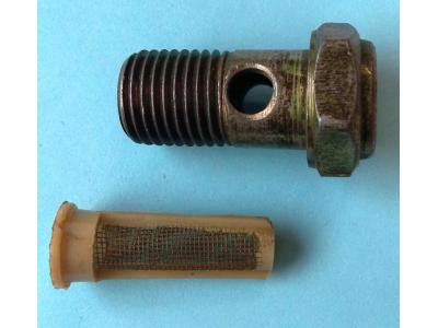 Болт пустотелый М14 с фильтр-сеткой (штуцер топливный) H HOWO (ХОВО) 90003962612 фото 1 Мурманск